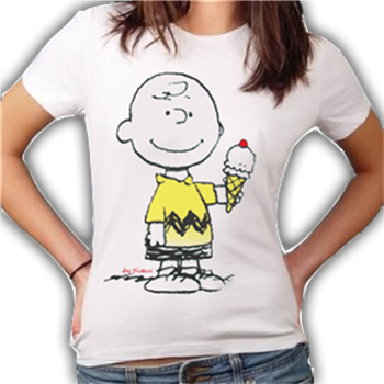 Peanuts Charlie Brown Ice Cream T-Shirt