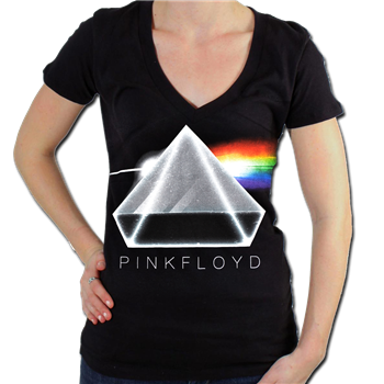 Buy 3D Prism V-Neck Shirt by Pink Floyd