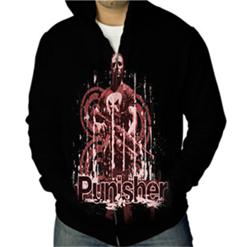 Buy Rifle Distressed Zip Hoodie by Punisher (the)