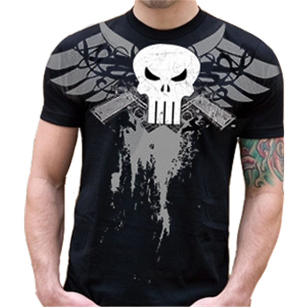 Skull Guns Wings T-Shirt