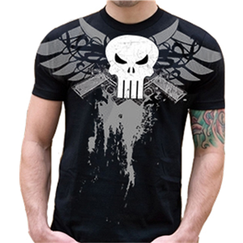 Buy Skull Guns Wings T-Shirt by Punisher (the)