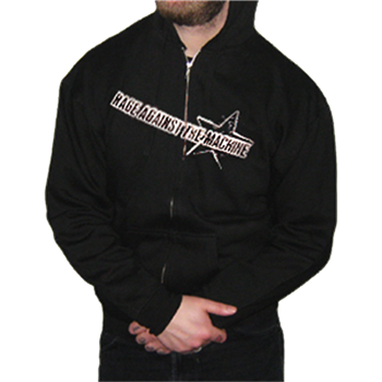 Buy Ragin Star Zip Hoodie by Rage Against The Machine