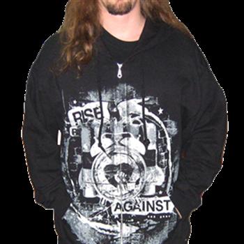 Buy Time Bomb Zip Hoodie by Rise Against