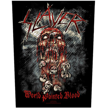 Slayer World Painted Blood Backpatch