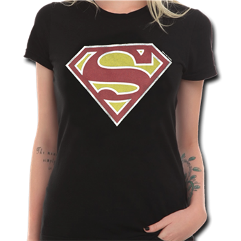 Superman Logo (Washed Black) T-Shirt