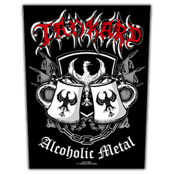 Tankard Alcoholic Metal Backpatch