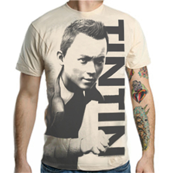 Buy Close-up Creme T-Shirt by Tin Tin