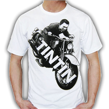 Buy Motorcycle White T-Shirt by Tin Tin