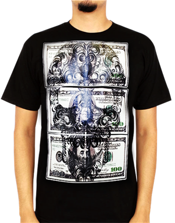 Buy Skull Money T-Shirt by Urban Street Wear