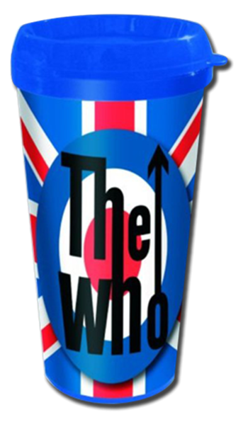 Who (the) UK Flag and Target Travel Mug
