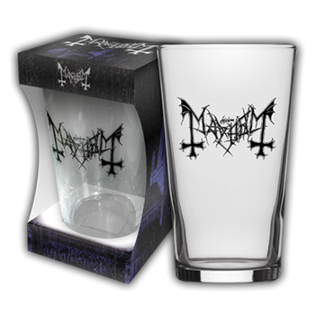 Mayhem Logo Beer Glass