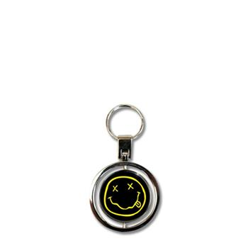 Nirvana Smiley Face Keychain