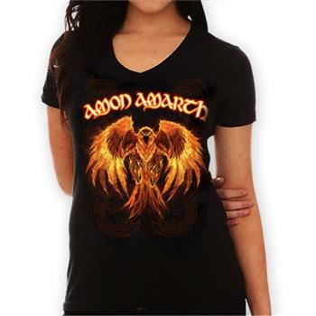 Buy Burning Eagle V-Neck T-Shirt by Amon Amarth