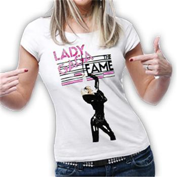 Buy Fame Microphone T-Shirt by Lady Gaga