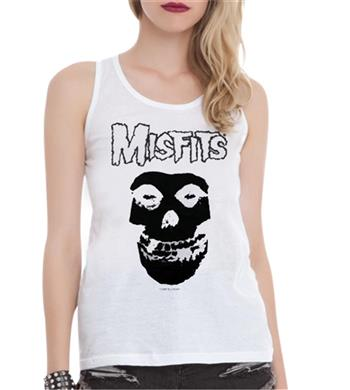 Buy Classic Skull White Tank Top T-Shirt by Misfits