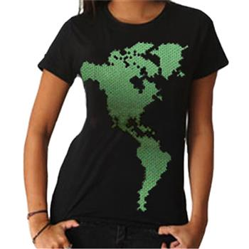 Buy World Map T-Shirt by Ecological