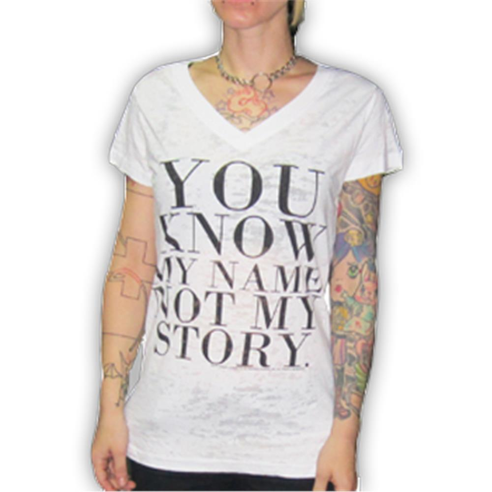Not My Story Burnout T-Shirt