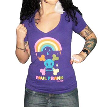 Paul Frank Skurvy Rainbow V-Neck Shirt