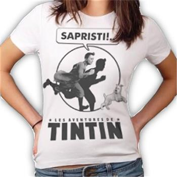 Buy Sapristi White T-Shirt by Tin Tin