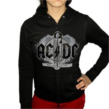 Buy Girl Zip Hood - Black Ice Foil Hoodie by AC/DC