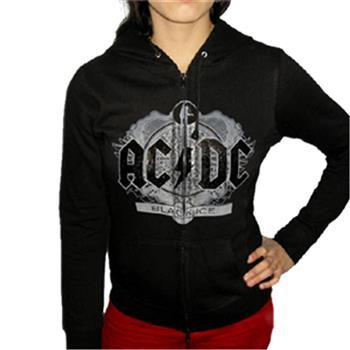 Buy Girl Zip Hood - Black Ice Foil by AC/DC
