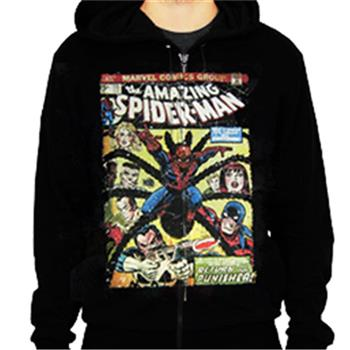 Spider-man Comic Cover Zip Hoodie