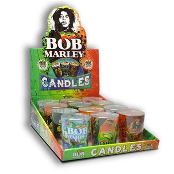 Buy 12 Large Shot Glass Candles Display by BOB MARLEY
