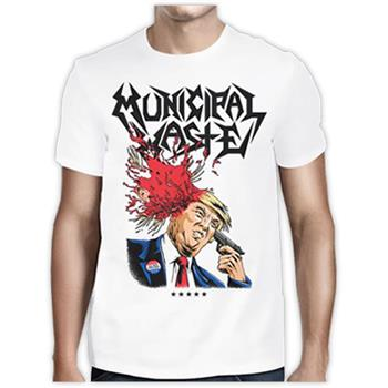 Municipal Waste (White) Trump Walls Of Death T-Shirt