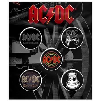 AC/DC Albums & Emblems Button Pin Set