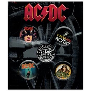 AC/DC 70s Collection Button Pin Set