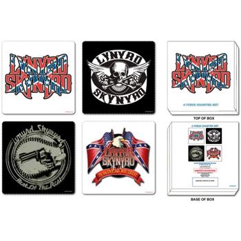 Buy 4 Pcs Coaster Set With Steel Box Coaster by Lynyrd Skynyrd