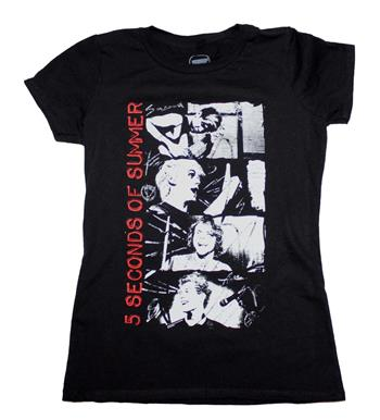 Buy 5 Seconds of Summer Stacked Photo Junior's T-Shirt by 5 Seconds of Summer