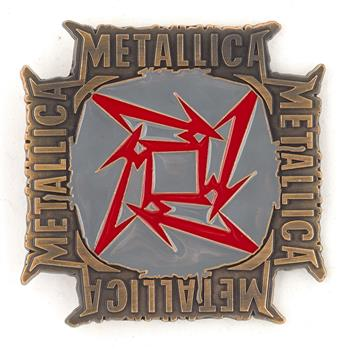 Metallica Red Star Names Buckle