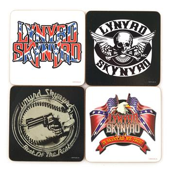 Buy 4 Pcs Coaster Set With Steel Box by Lynyrd Skynyrd
