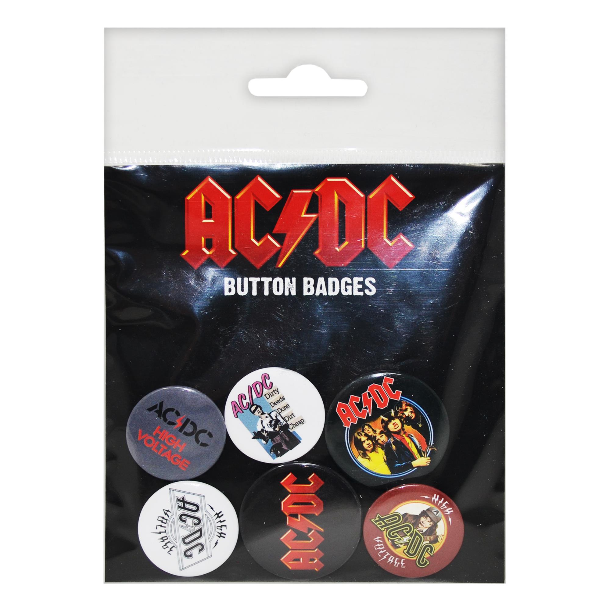 AC/DC - Button Badges - 6 pcs