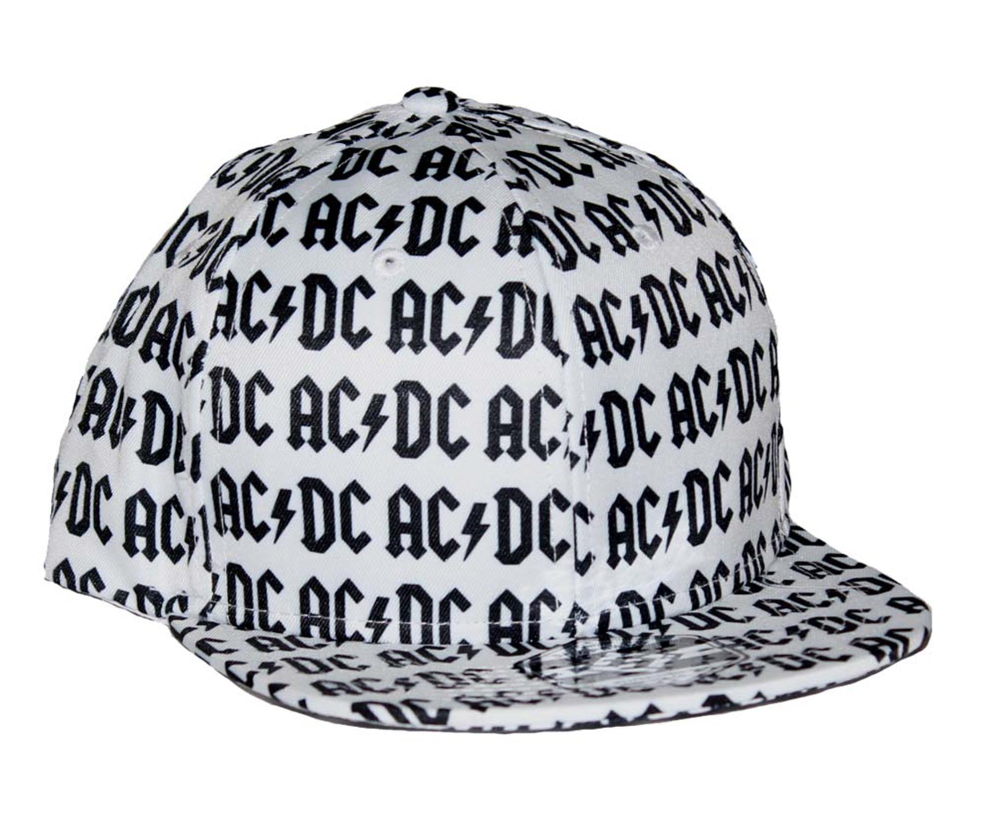 AC/DC All Over Logo Flat Bill Snapback Hat