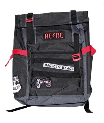 Buy AC/DC Back in Black Roll-Top Backpack by AC/DC
