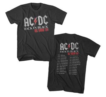 Buy AC/DC Back in Black UK Tour 1980 T-Shirt by AC/DC