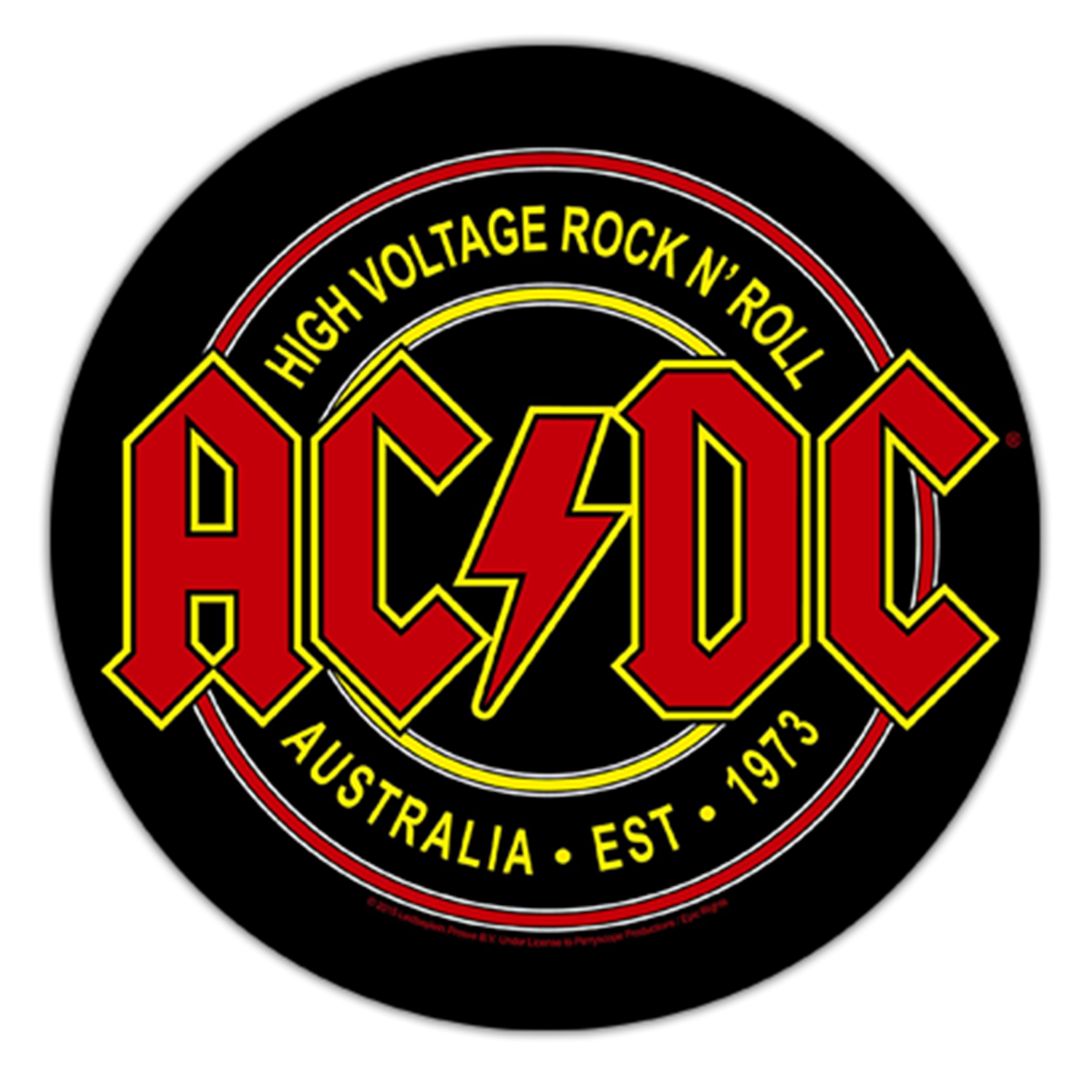 High Voltage Rock N Roll Backpatch
