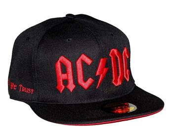 Buy AC/DC Red Logo Flat Bill Snapback Hat by AC/DC