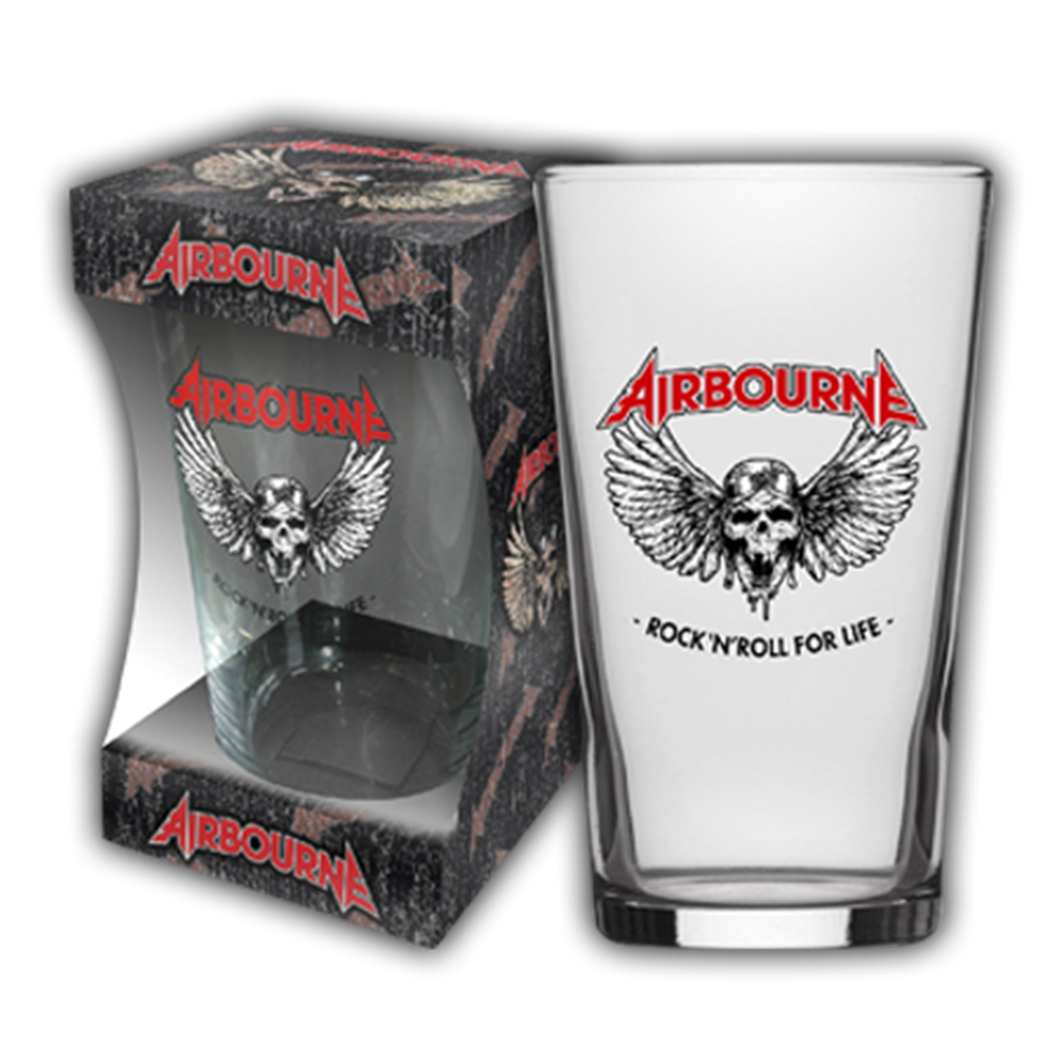 Rock N Roll For Life Beer Glass