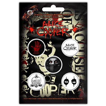 Alice Cooper Eyes Button Pin Set