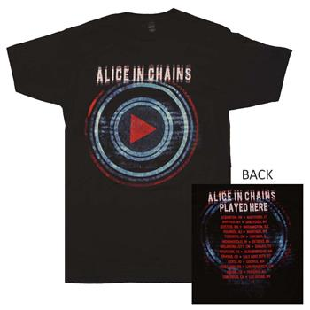 Buy Alice in Chains Played Here Tour T-Shirt by ALICE IN CHAINS