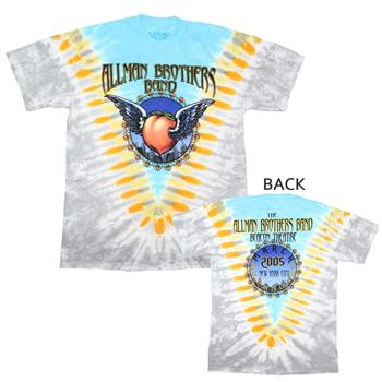 Buy Allman Brothers Flying Peach V-Dye T-Shirt by Allman Brothers