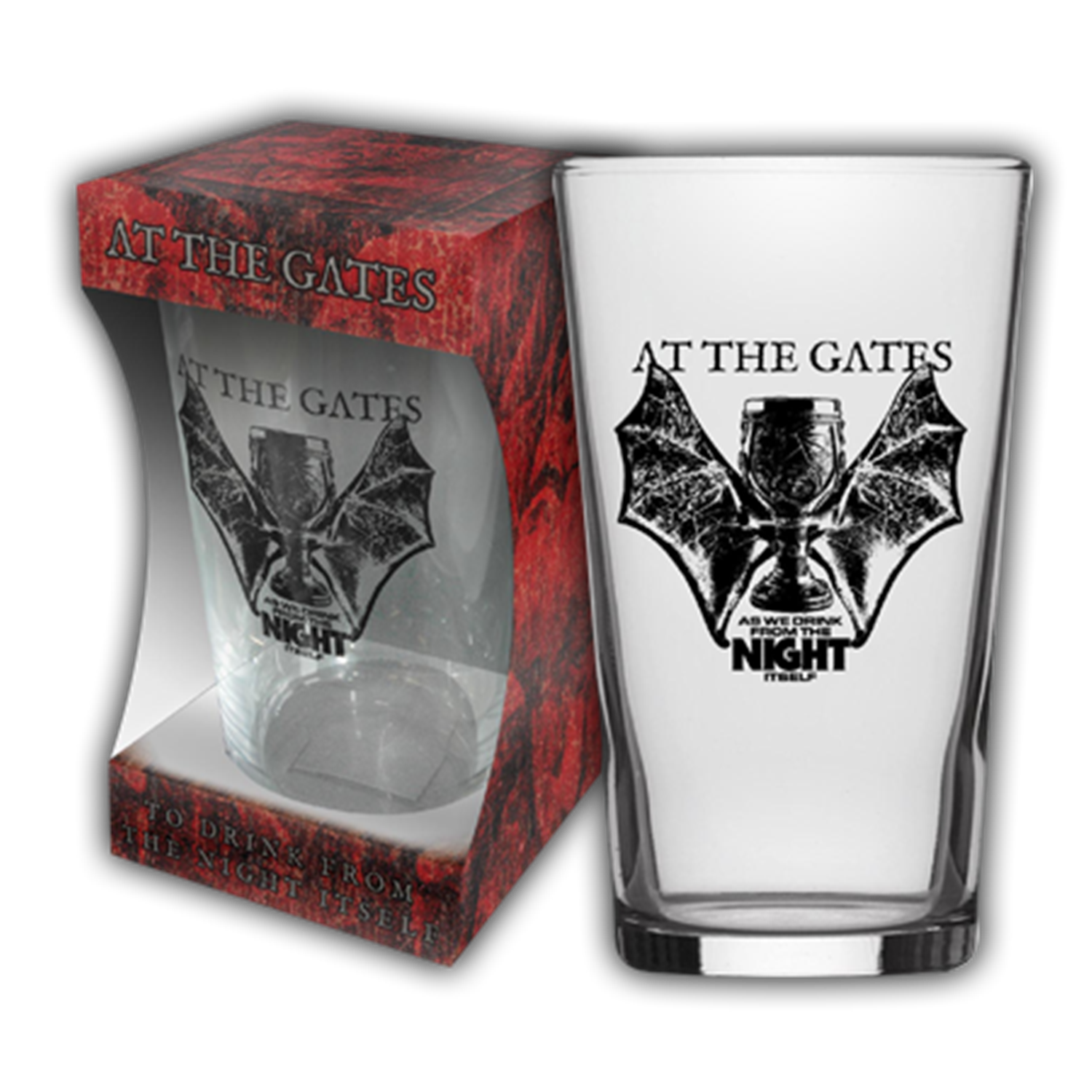 As We Drink From The Night Itself Beer Glass