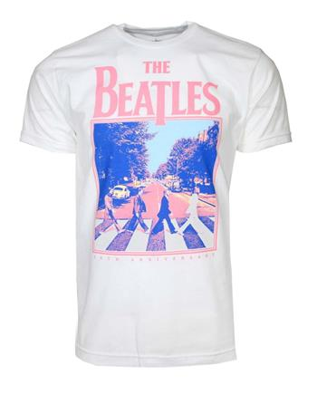 Beatles Beatles 50th Anniversary Abbey Road White T-Shirt