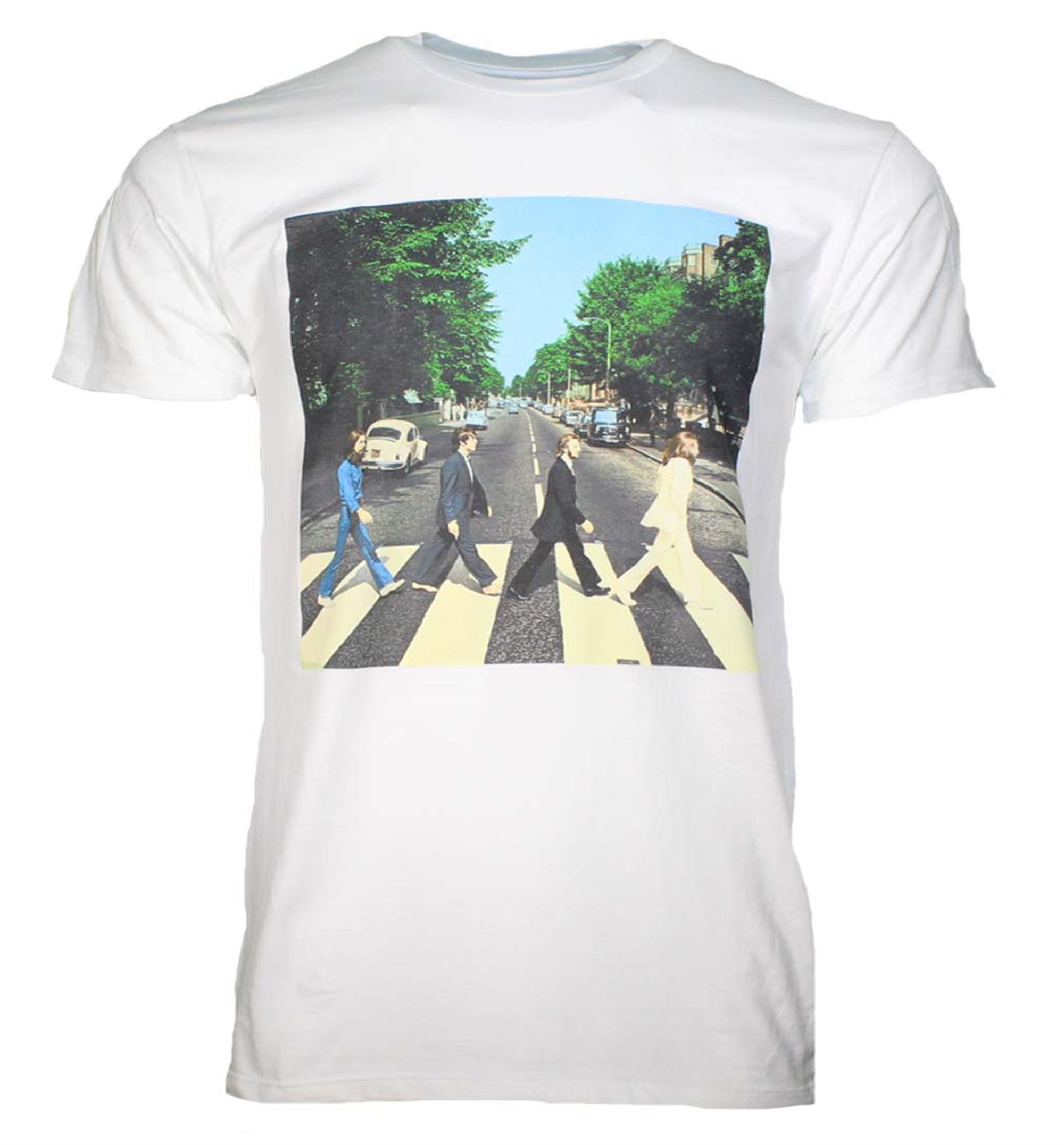 Beatles Abbey Road Walk White T-Shirt