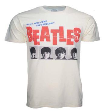 Beatles Beatles American Tour 1964 Cream Front Print T-Shirt