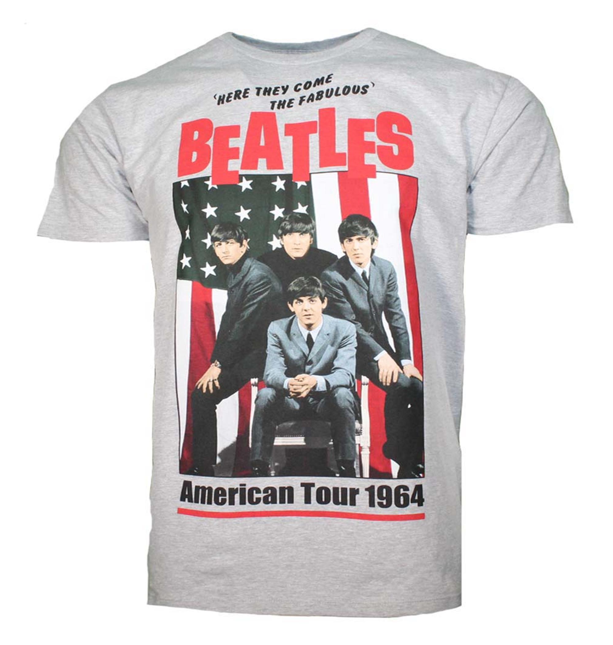 Beatles American Tour 1964 Gray T-Shirt