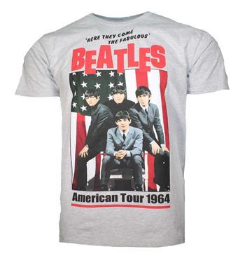 Beatles Beatles American Tour 1964 Gray T-Shirt